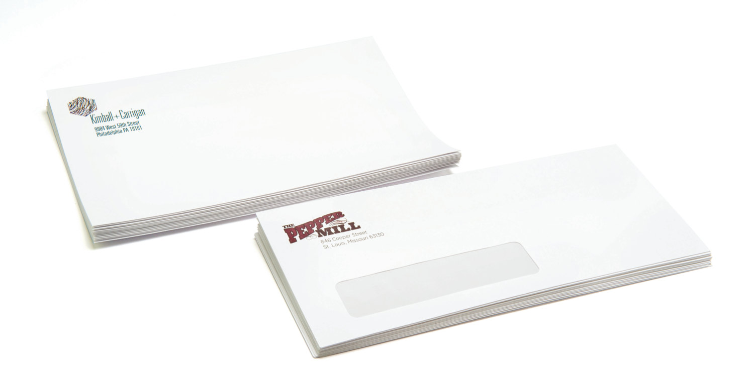 Custom no 10 window envelopes for 10 window envelope size