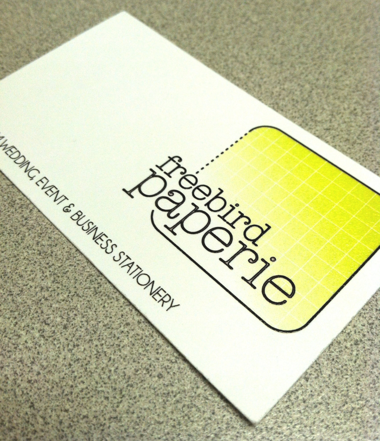 custom raised ink thermography business cards front printing only - Raised Lettering Business Cards